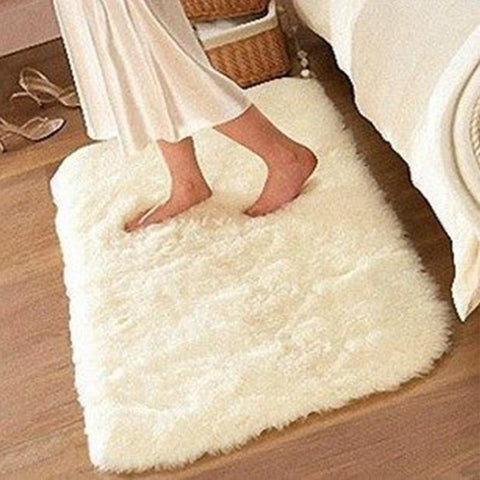 50*80cm Carpet Floor Suede Non-slip Mat Bathroom Idiyka