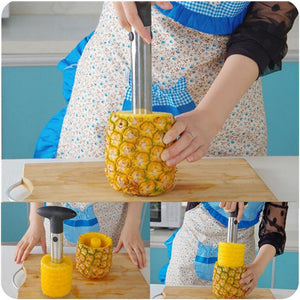 1pc Stainless Steel Fruit Pineapple Corer Slicers Peeler Idiyka