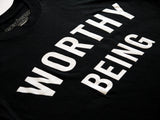 WORTHY BEING, The Signature Tee [Simple as Black + White]