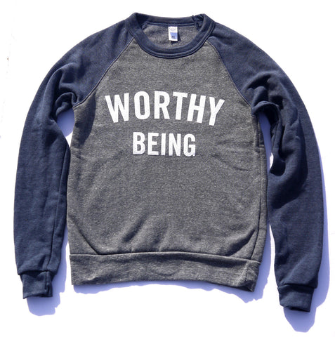 WORTHY BEING, The Signature Champion Color Block Sweatshirt