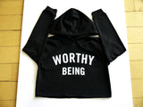 WORTHY BEING, The Signature Crop Hoodie