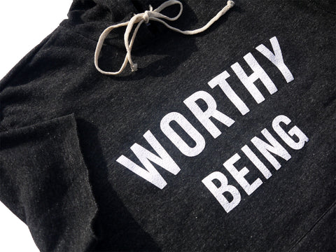 WORTHY BEING, The Signature Eco S/S Hoodie