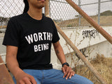 WORTHY BEING, The Signature Tee [Black &White]