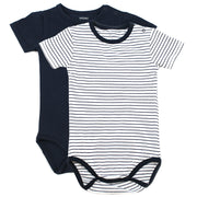 Viverano Venice Stripe Jersey Short Sleeve Organic Cotton Bodysuit for Babies
