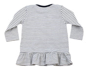 Viverano Venice Stripe Organic Cotton Jersey Long Sleeve Dress Top for Baby Girls (2 Colors)