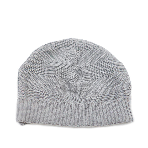 Viverano Organic Cotton Milan Rib Knit Beanie Cap for Babies (Grey)