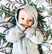 Viverano Milan Knit Organic Cotton Zip Hoodie Sweater for Babies