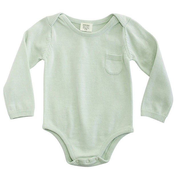 Viverano Milan Organic Cotton Romper Bodysuit for Babies - Full Sleeves
