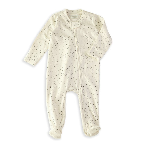 Florence Pebble Organic Cotton Zipper Footie Coverall Romper for Babies by Viverano