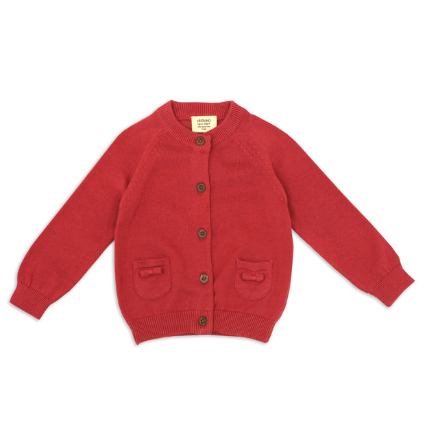 Marseille Organic Cotton Knit Button Cardigan for Babies- Viverano