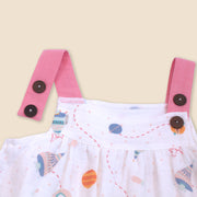 Organic Cotton Shoulder Strap Dress with Bloomer Set for Babies - Space Dream by Viverano