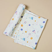 Organic Cotton Baby Swaddle Blanket - Space Dream by Viverano