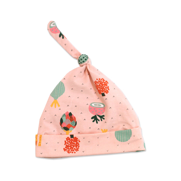 Organic Cotton Knot Hat for babies - Veggie Salad by Viverano