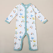 Organic Cotton Coverall Romper - Tropical Jungle