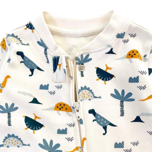 Organic Cotton Dino Zipper Footie Coverall for Babies by Viverano