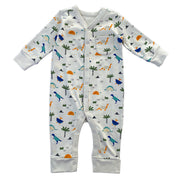 Organic Cotton Dino Snap Front Coverall Romper for Babies by Viverano