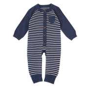 Milan Organic Cotton Heather Knit Classic Coverall for Babies by Viverano