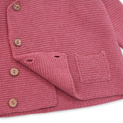 Milan Organic Cotton Heather Knit Hoodie Button Coat for Babies by Viverano