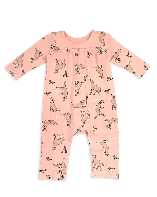 Kai Dog & Hummingbird Girl Coverall