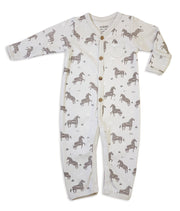 Wild & Free Horse Organic Cotton Coverall Romper for Babies - Baby Gifts