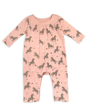 Wild & Free Horse Organic Cotton Coverall for Babies- Baby Gifts