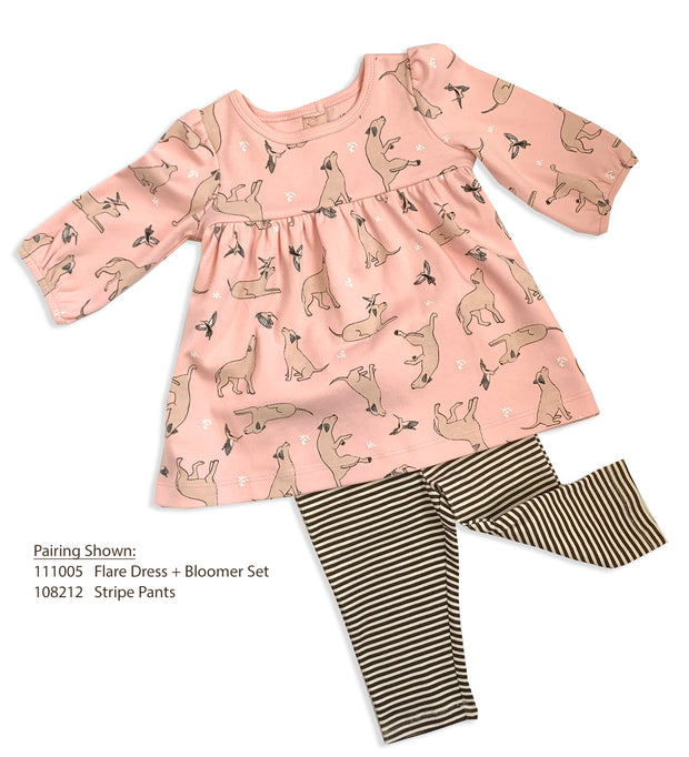 Kai Dog & Hummingbird Flare Dress & Bloomer Set