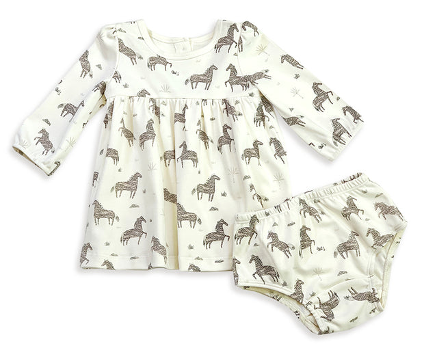 Wild & Free Horse Organic Cotton Flare Dress for Babies - Baby Gifts