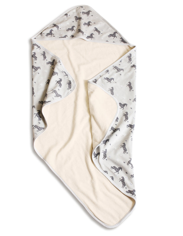 Wild & Free Horse Reversible Hooded Towel