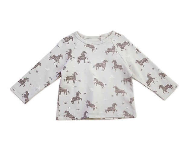 Wild & Free Horse Organic Cotton Long Sleeve Tee for Babies - Baby Gifts