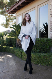 Organic Cotton Knit 5-Way Poncho Wrap by Viverano