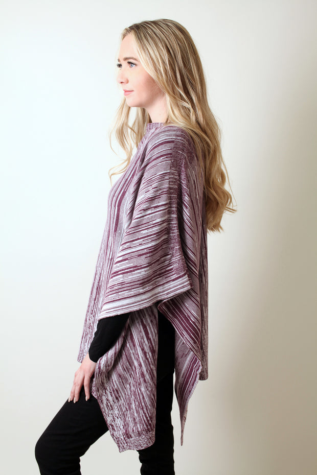 Loving Thread Eco-chic LUXE 2-Tone Organic Cotton 5-Way Poncho Wrap (4 Colors)