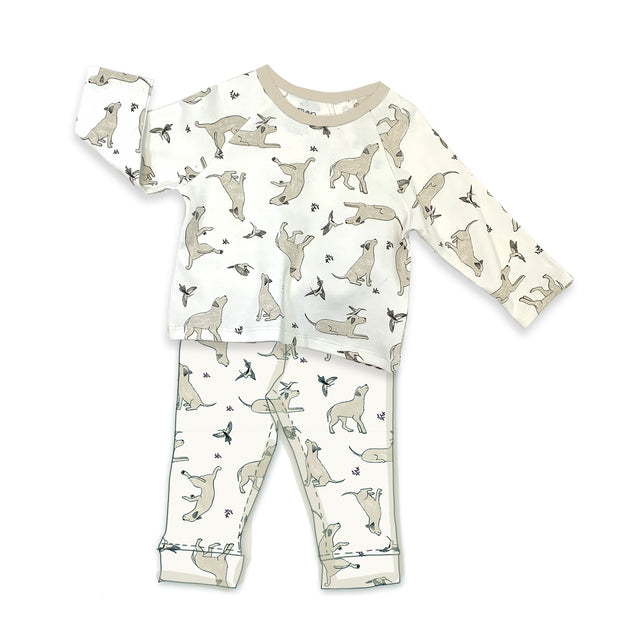 Kai Dog & Hummingbird Long Sleeve Tee & Jogger Pants SET
