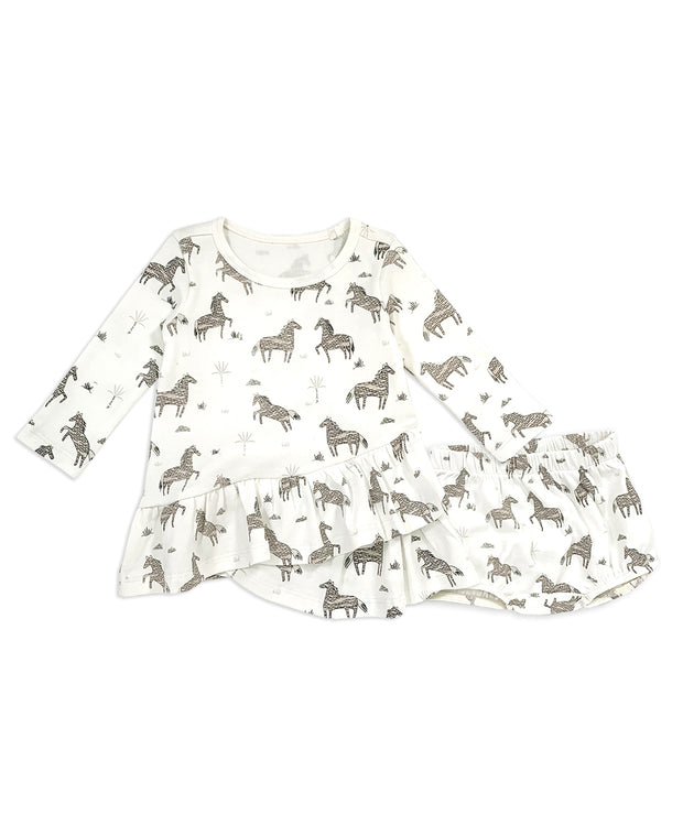 Wild & Free Horse Organic Cotton Tulip Dress for Babies - Baby Gifts