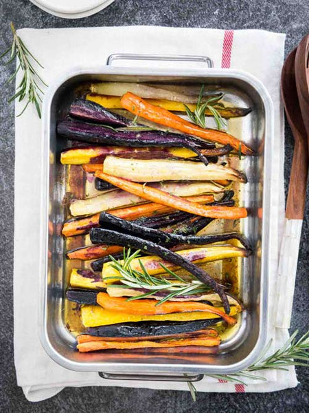 Caramelised Carrots with CBD Chimichurri