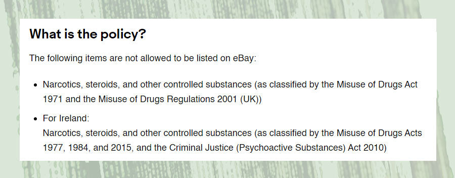 Ebay drug policy