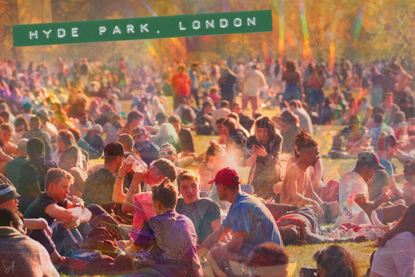 hippies at hyde park london