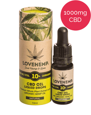 10% CBD Oil (1000mg) Love Hemp - Natural Hemp