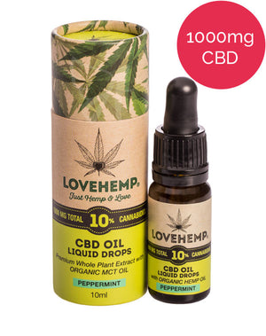 10% CBD Oil (1000mg) Love Hemp - Peppermint MCT