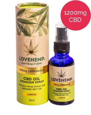 1200mg CBD Oil Spray (MCT) Love Hemp - Lemon