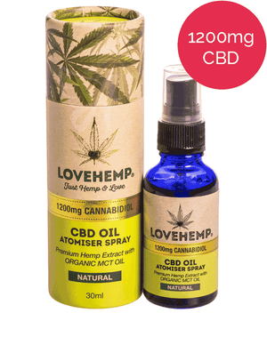 1200mg CBD Oil Spray (MCT) Love Hemp - Natural