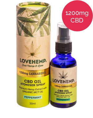 1200mg CBD Oil Spray (MCT) Love Hemp - Peppermint