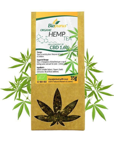 1.6% CBD Hemp Tea (Flowers & Leaves) Biopurus UK - Organic-for the Ageless
