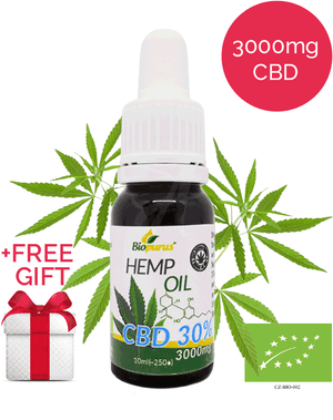 30% Strong CBD Oil (3000mg in 10ml) Certified Organic | Biopurus UK-for the Ageless