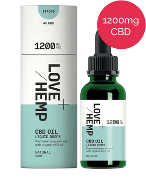 4% CBD oil – 1200mg – Love Hemp - Natural