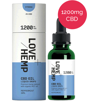 4% CBD oil – 1200mg – Love Hemp - Peppermint