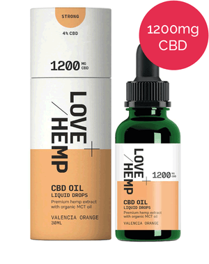 4% CBD oil – 1200mg – Love Hemp - Valencia Orange