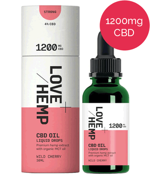 4% CBD oil – 1200mg – Love Hemp - Wild Cherry