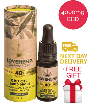 40% CBD Oil - Love Hemp (Natural)