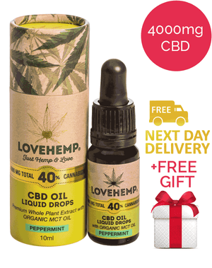 40% CBD Oil - Love Hemp (Peppermint)