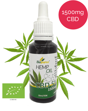 5% Organic CBD Oil (1500mg in 30ml) Biopurus UK-for the Ageless